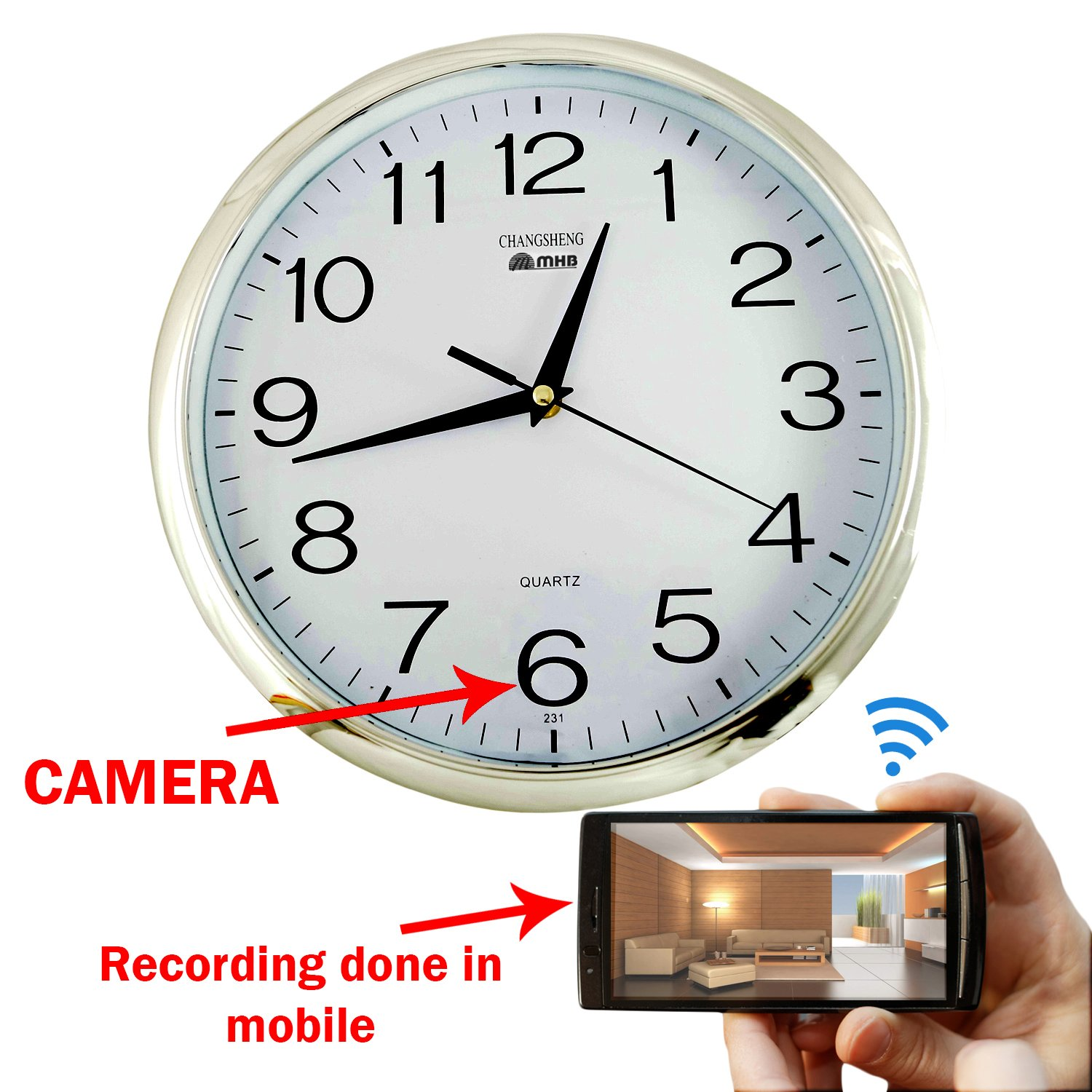 Buy m mhb wifi wall clock hidden spy camera online at low price in buy m mhb wifi wall clock hidden spy camera online at low price in india m mhb camera reviews ratings amazon amipublicfo Images