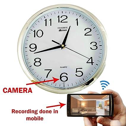deb9761ed1ed Buy M Mhb Wifi Wall Clock Hidden Spy Camera Online at Low Price in India