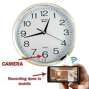 Buy M Mhb Wifi Wall Clock Hidden Spy Camera Online at Low Price in
