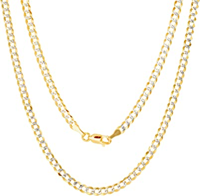 10k Yellow Gold Diamond-cut 2.2mm Cable Link Chain Necklace 16-24