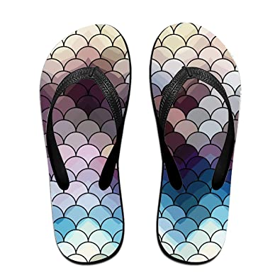 f640b6239 Qweer Adult s Slim Flip Flops Abstract Squama Sandals Beach Slippers Shower  Slides
