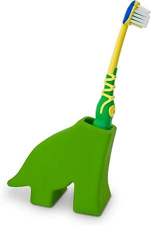 Unbekannt J Me Diego der Dinosaurier Zahnbürstenhalter, Silicone, Green, 7.3x9x3.4 cm