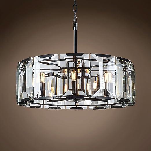 Amazon.com: Lámpara de techo colgante de cristal de hierro ...
