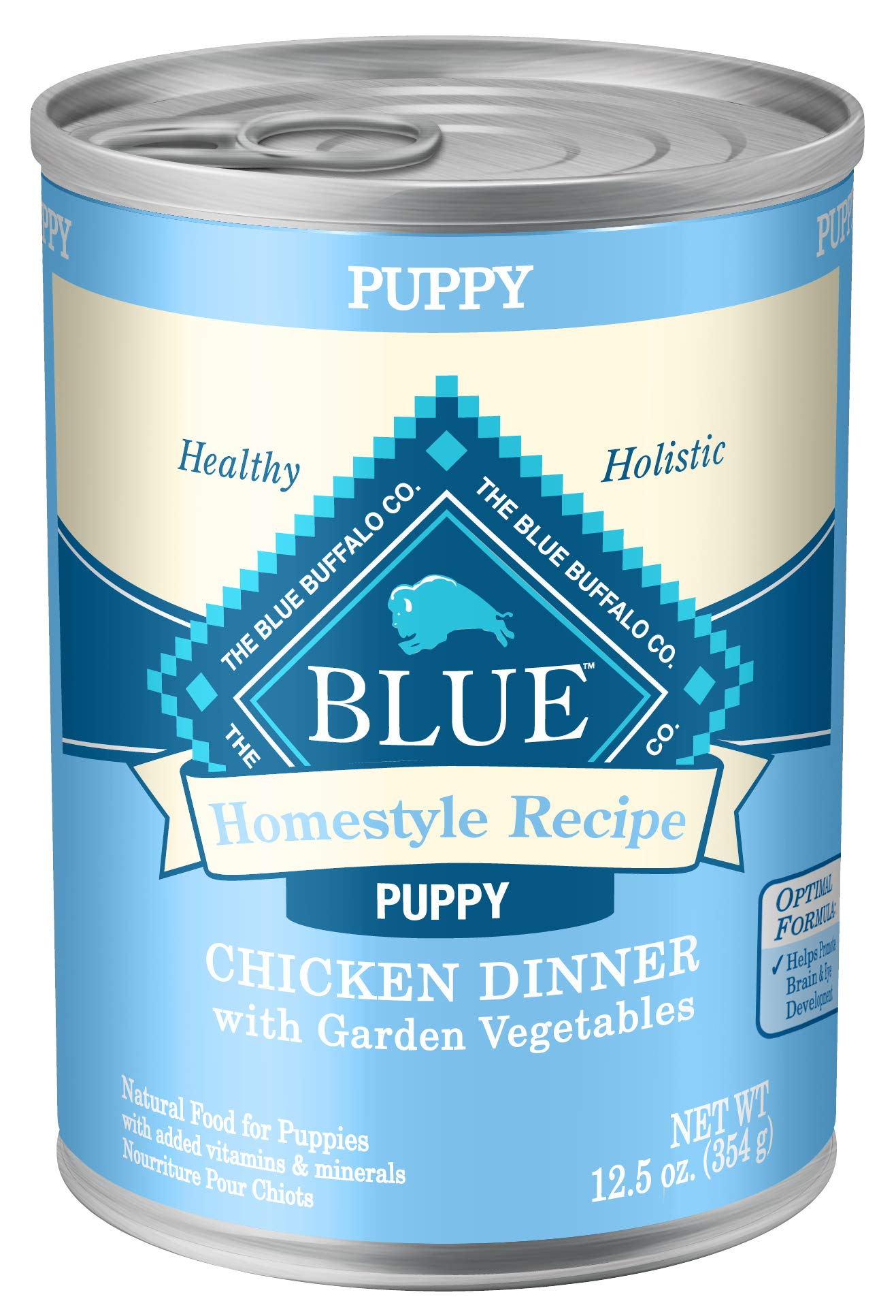 Blue Buffalo Homestyle Recipe Natural Puppy Wet Dog Food, Chicken 12.5-oz can (Pack of 12) by Blue Buffalo