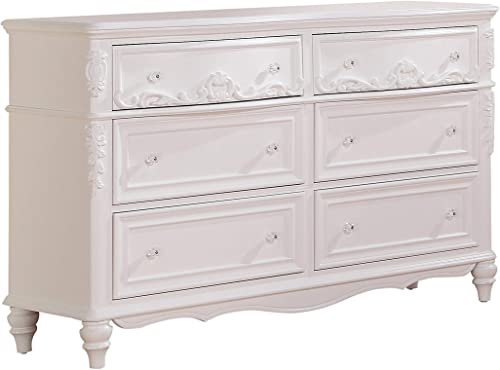 Coaster Home Furnishings Caroline Decorative 6-Drawer Dresser White