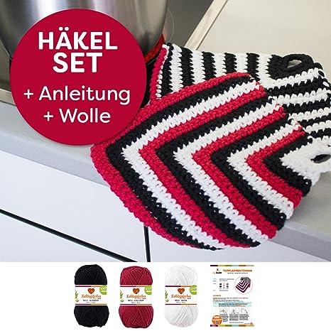 Presina Tonami Semplice Crochet Myboshi Set Uncinetto Con 3 X 50 G