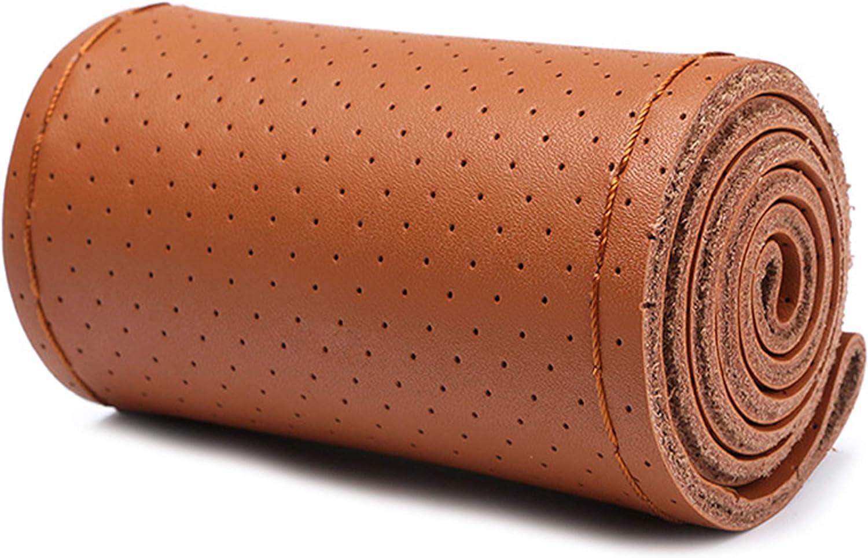 LUCKLYSTAR/® DIY Fundas de Volante Cubierta de Cuero para Volante con la Aguja y el Hilo de Rosca Accesorios Antideslizante para Coche Universal