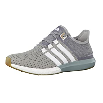 adidas Damen Laufschuhe cc gazelle boost medium grey heather/ftwr white/green earth f15 37 1/3