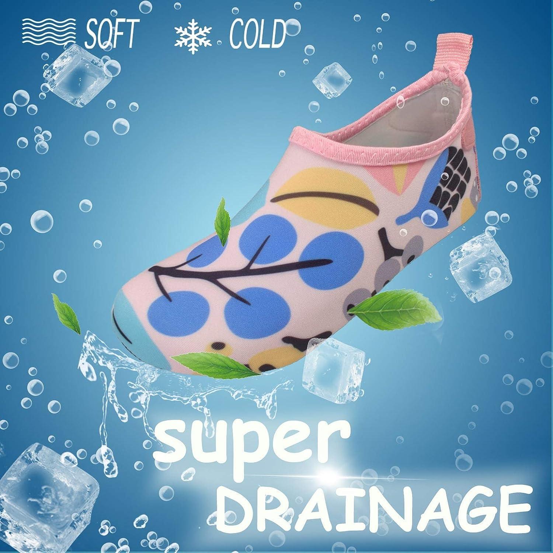 FELOVE Scarpe da Spiaggia per Bambini a Rapida Asciugatura Pelle Antiscivolo Scarpe da Acqua a Piedi Nudi Ragazzi Ragazze Calze da Acqua per Piscina per Bambini Giardino Sport al Mare