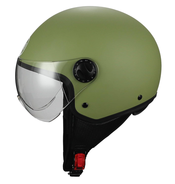 XL verde mate 60/cm BHR 26237/Casco Demi-Jet