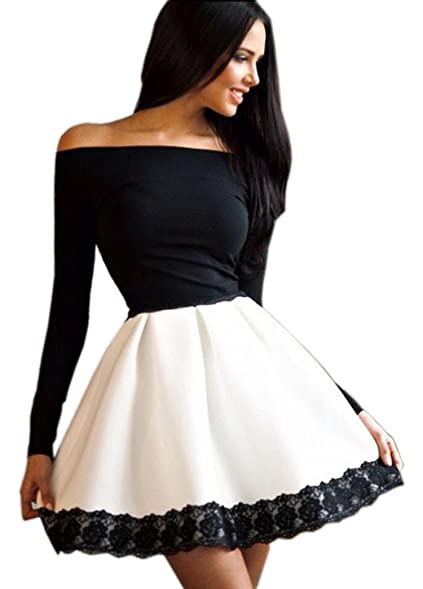 Black lace dress long sleeve skater