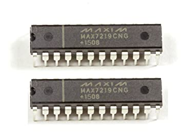 MissBirdler MAX7219CNG MAX7219 LED Display Segmentable Driver Chip for Arduino Raspberry Pi Pack of 2