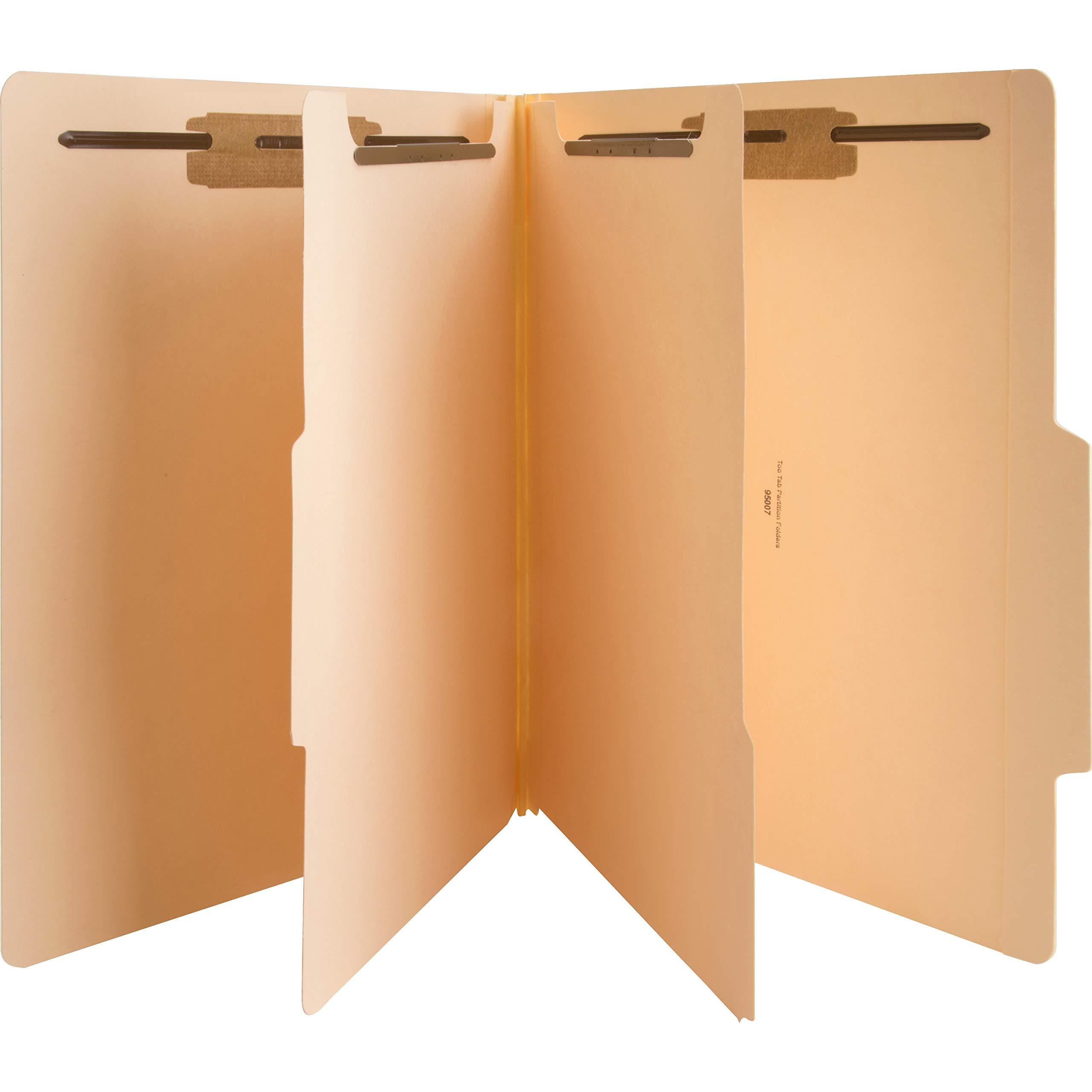Sparco 95007 Six Part Folders, 2'' Exp, 2 Div, Letter, 25/BX, Manila