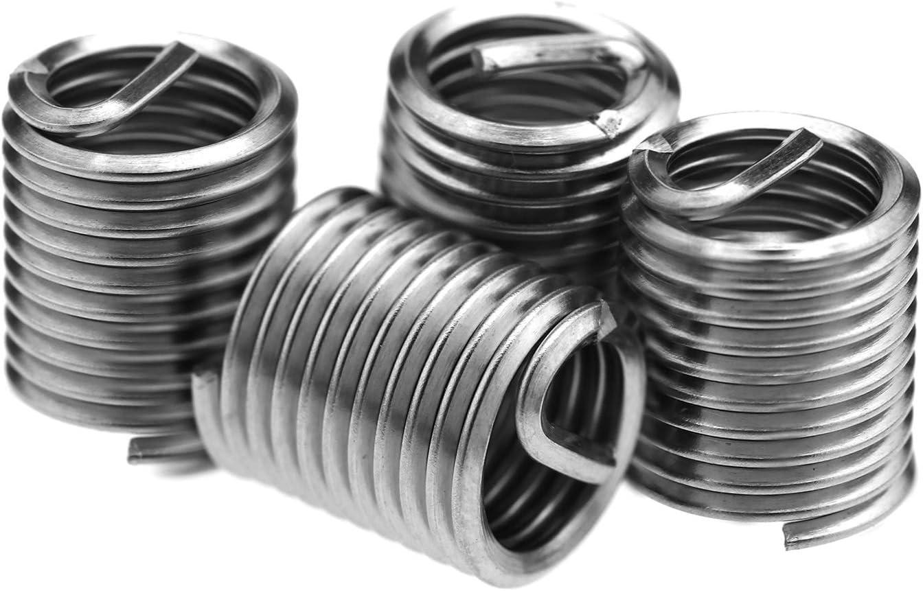 25 pezzi M8 x 1,25 X 2D in acciaio inox Helicoil Filettatura filo inserti a vite Kit di riparazione