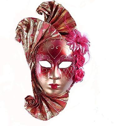 YU Feng Máscara de Mascarada de Rostro Completo para Mujer ...