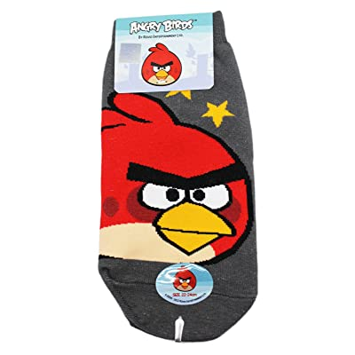 Angry Birds Red Bird Stars Gray Colored Kids Socks (1 Pair, Size 22-24cm)
