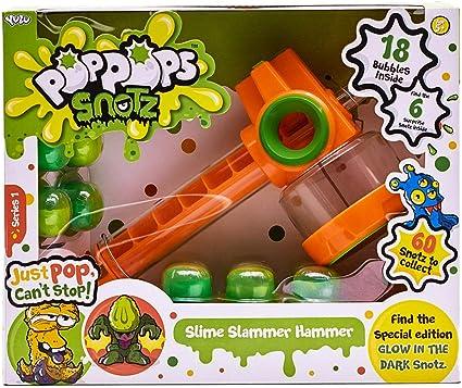 Pop Pops Snotz Play Set Hammer 18 Piece Bubble Window Box Version Kid Toy Gift