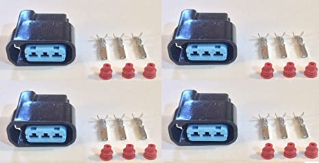 Amazon.com: 4x Plug Connector Harness Pigtail for Honda Acura ... on