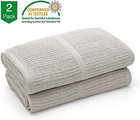 Cellulaire couverture douce pure 100/% coton bébé confort nouveau-né blanc pack de 2