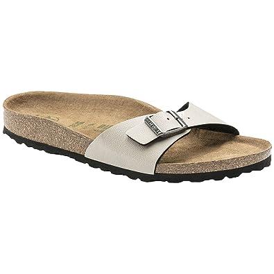 Birkenstock Madrid Birko Flor Womens Sandals 38 EU Pull Up Stone Vegan ZEoIKvXcex