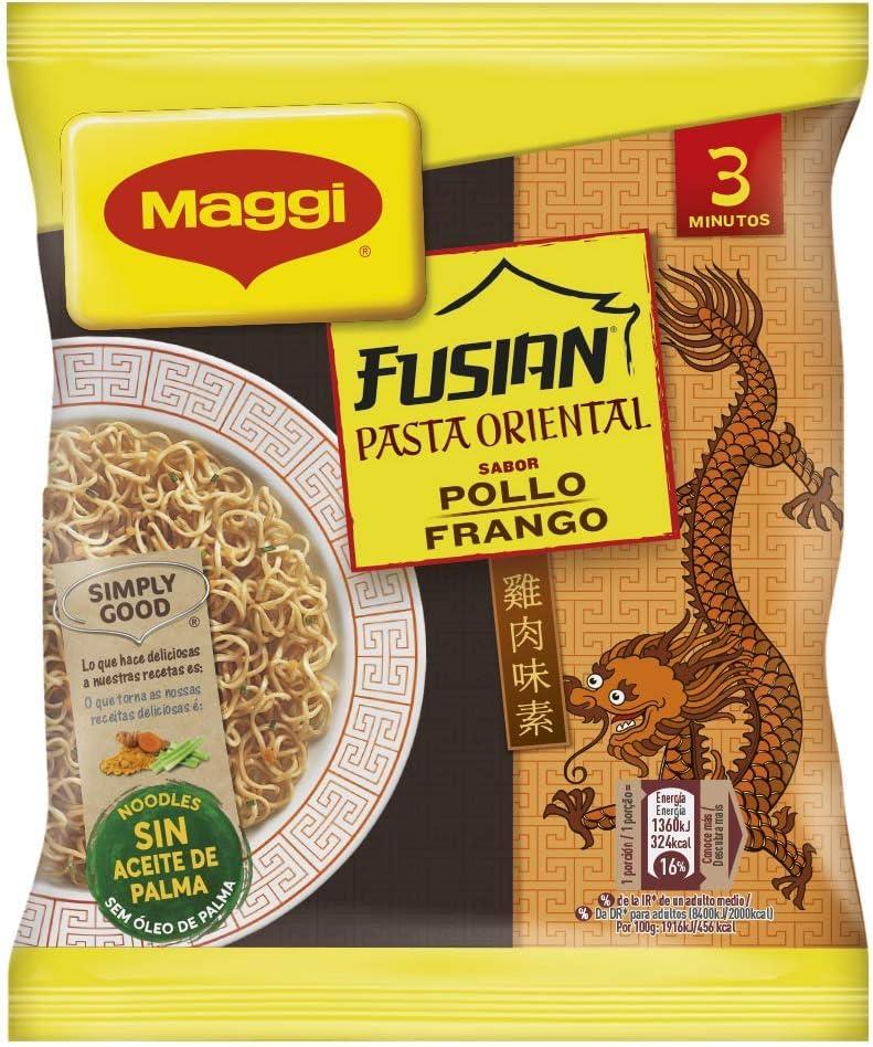 Maggi Fusian Pasta Oriental Noodles Sabor Pollo - Fideos ...