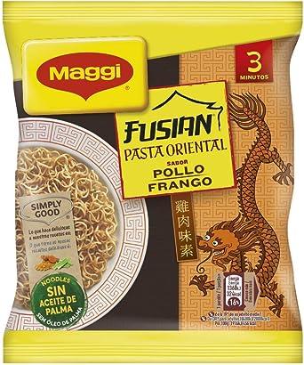 Oferta amazon: MAGGI Fusian Pasta Oriental Noodles Sabor Pollo - Fideos Orientales - Bolsa de fideos orientales de 71g (1 ración)