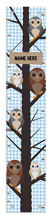 Amazon Com Owl Growth Chart For Kids Name Here Animal Growth Chart Owl Height Chart Personalized Growth Chart Baby