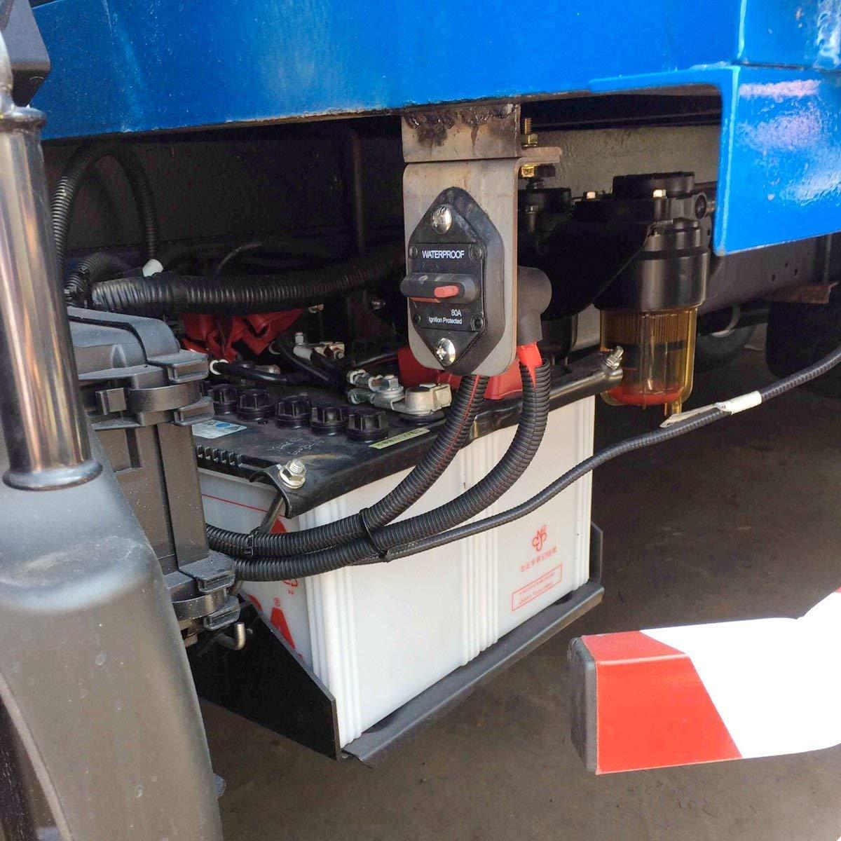 T Tocas camper imbarcazioni Interruttore di linea per inverter di fusibili per motori fuoribordo 12 V CC moto e impianti stereo