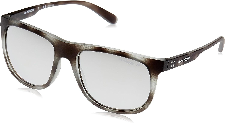 ARNETTE Crooked Grind Gafas de sol, Matte Grey Havana, 56 para Hombre