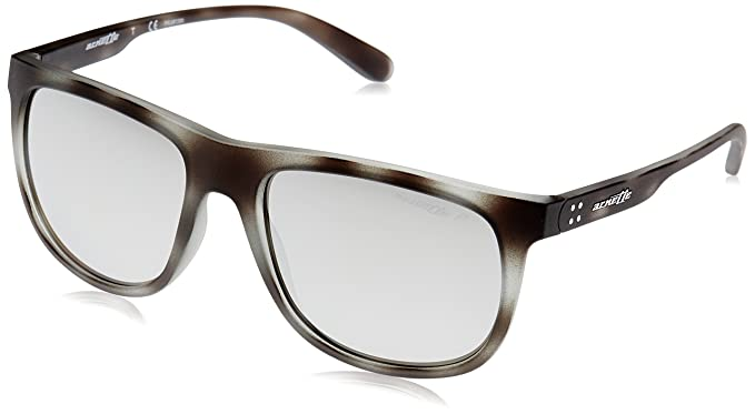 49ddc8decb Arnette Men s Crooked Grind Polarized Rectangular Sunglasses matte grey  havana 56.0 mm