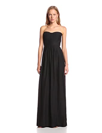Amazon.com: Parker Women\'s Bayou Silk Strapless Evening Maxi Gown ...