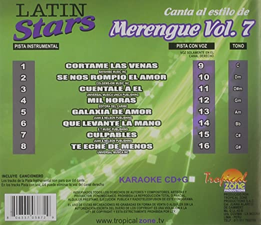 Karaoke Latin Stars Merengue - Karaoke Latin Stars Merengue ...