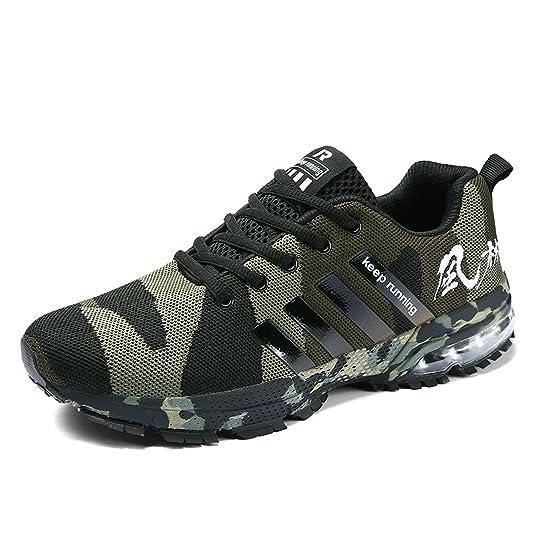 Senbore - Zapatillas de Running de Sintético para Hombre Gris Gris ...