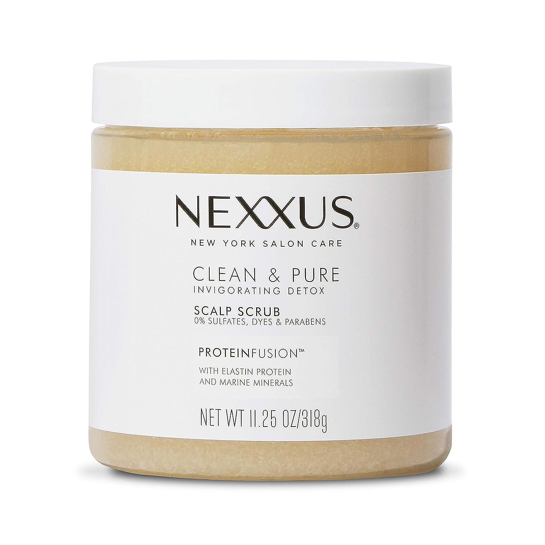 Nexxus Clean and Pure Sulfate-Free Shampoo Scalp Scrub For Normal to Oily Hair Hair Treatment Detox Shampoo Hair Care 11.25 oz