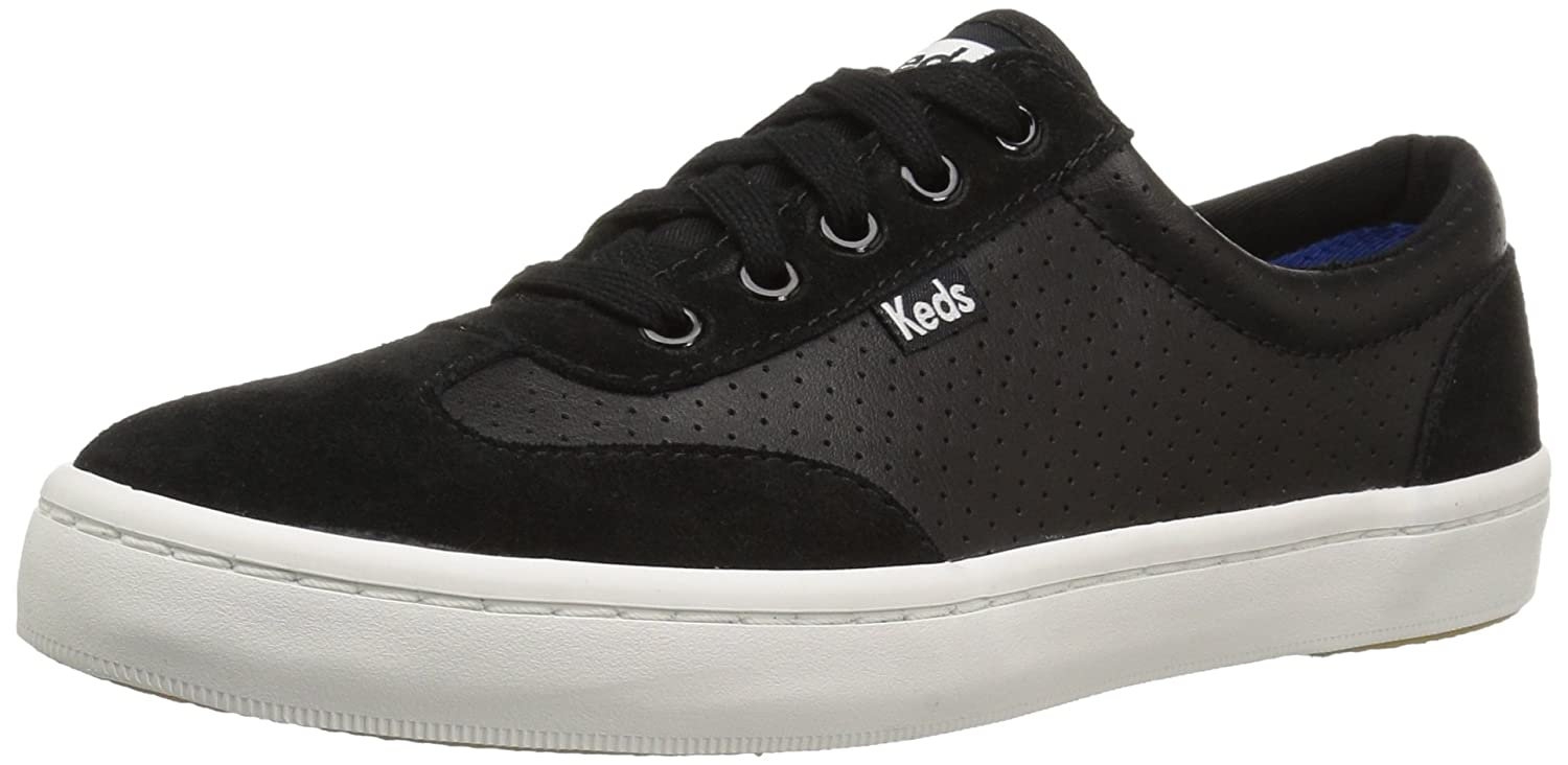 Keds Women's Tournament Retro Court Perf Leather Fashion Sneaker B01JLJB6VW 7 B(M) US|Black