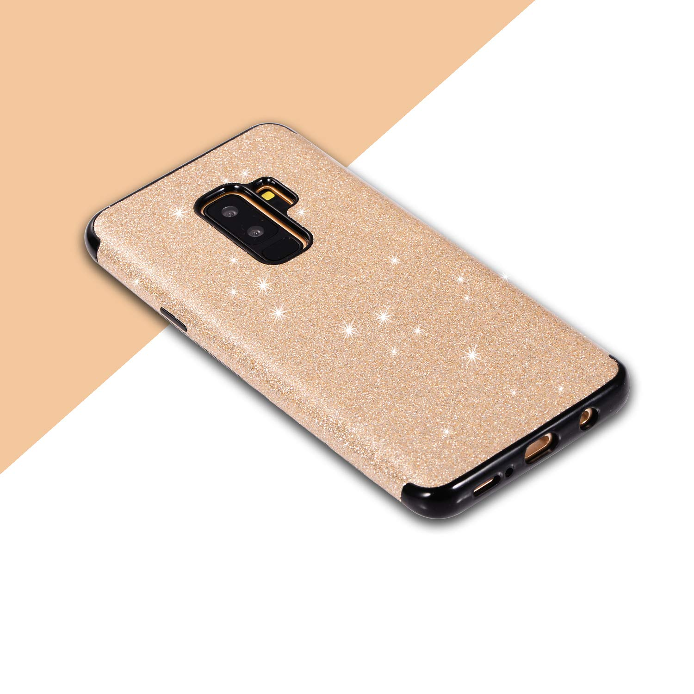 Samsung Galaxy S9 Handyh/ülle,CESTOR Luxus Bling Gl/änzend Ultra D/ünn Weich Flexibel Gel TPU Silikon H/ülle,Anti-Kratzer R/ückseite Schutz H/ülle f/ür Samsung Galaxy S9,Schmetterling-Schwarz