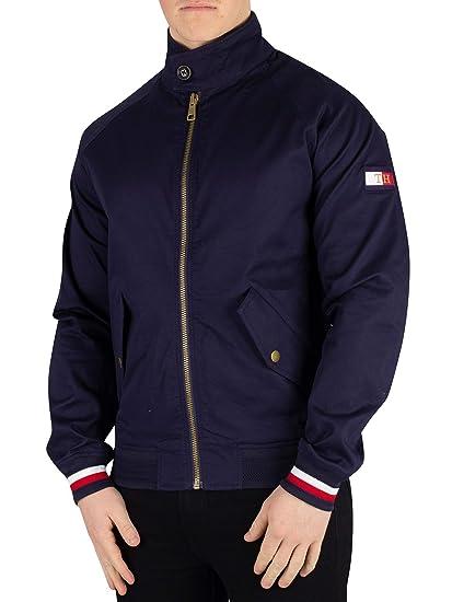 19df76b2 Tommy Hilfiger Men's Signature Tape Harrington Jacket Maritime Blue ...