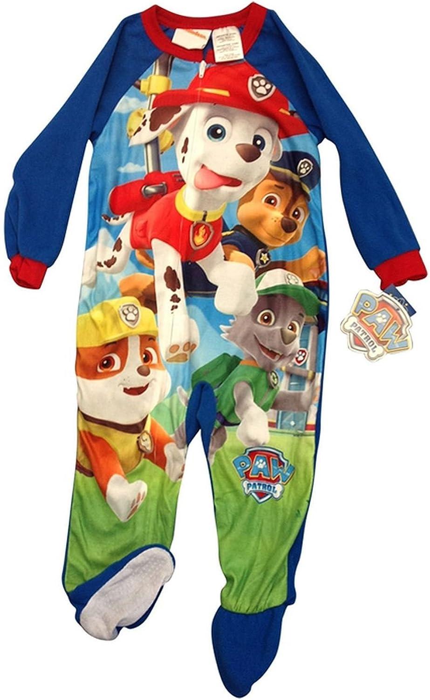 Toddler Boys Paw Patrol One Piece Blanket Sleeper Christmas Pajamas