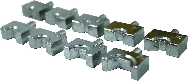 R 10T Hydraulische Drahtklemme Crimpzange Batteriekabelschuh Crimpzange mit 9 Paar HFS