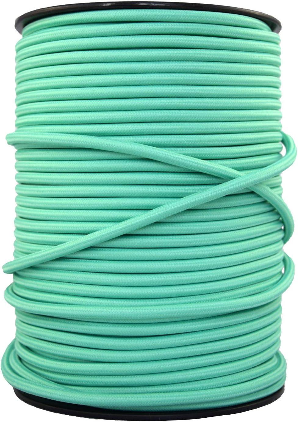 - Cable de luz con revestimiento textil smartect Cable para l/ámparas de tela en color Rojo Cable textil trenzado de 5 Metro 3 hilos 3 x 0,75 mm/²