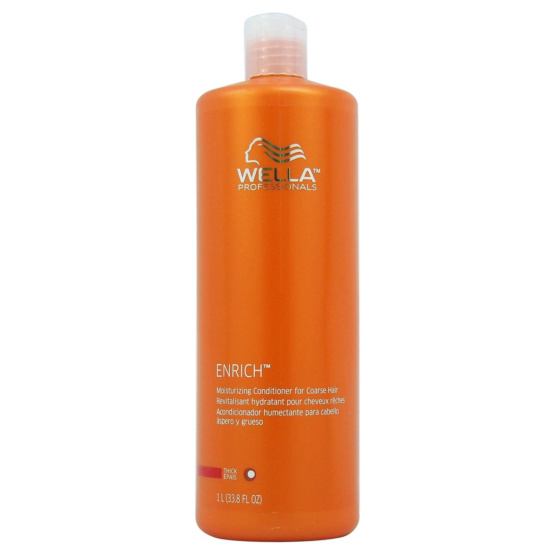 Wella Enrich Moisturizing Conditioner for Coarse Hair 33.8 Oz (1 Liter), 33.8 Oz