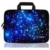 """Starry iColor 11.6""""-12"""" Inch Netbook/ Laptop / Chromebook / MacBook Ultra-Portable Neoprene Zipper Carrying Bag Sleeve Briefcase Pouch Bag Tote w/ Handle for New Macbook Retina, Microsoft Surface Pro 3, HP Stream, Toshiba Radius, Dell, Lenovo, Samsung, ASUS Laptop(IHB12-003)"""