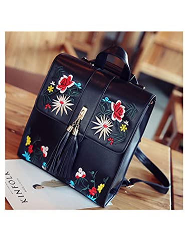 Tyler Morrison Fashion Embroidery Girl Backpacks Cute School Bags New Women Backpack Pu Leather Female Shoulder
