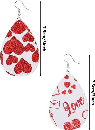 Faux Leather Valentine\u2019s Day Earrings!