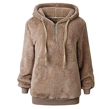 US Womens Warm Zipper Hooded Hoodie Casual Sweatshirt Long Coat Tops Outwear