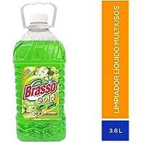 Brasso Limpiador Multiusos, Manzana Verde, 3.6 Litros, Paquete de 4 Botellas