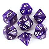 Paladin Roleplaying Pearl Purple Dice - Full Polyhedral Set