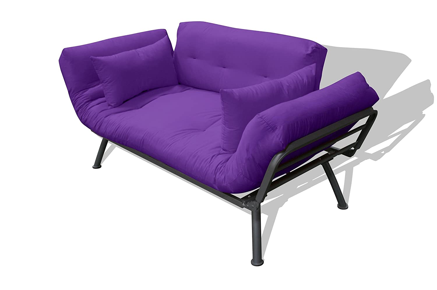 Amazon.com: American Furniture Alliance Mali Flex Futon Frame And Cushions,  Aubergine/Caper: Kitchen U0026 Dining