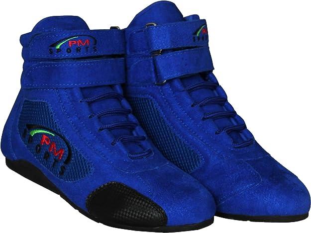 Pm Sports Kinder Kartingstiefel Race Rally Track Boots Mit Wildleder Mesh Racewear Schuhe Handtaschen