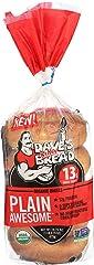 Dave's Killer Bread Plain Awesome Bagels, Organic Plain Bagels - 16.75 oz Bag